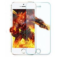 9H 2.5D дуговой закаленной стеклянной пленки для iPhone 5 / 5S / SE Прозрачный