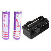 Шт tangsfire 18650 аккумуляторная батарея 3.7 V 3200mah литий-ионный аккумулятор с защитой борту Фиолетовый