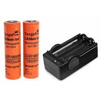 Шт tangsfire 18650 3.7 в 3800 мАч литий-ионная аккумуляторная батарея с зарядным устройством-2-пакет, оранжевый, без защиты доска Оранжевый