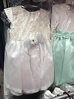 Белое праздничное платье для девочки