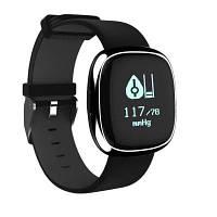 Смарт ремешок Р2 монитор артериального давления и сердечного ритма смарт браслет шагомер монитор сна фитнес-трекер для андроид iOS Чёрный