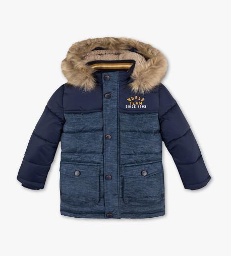 Детская зимняя куртка с мехом для мальчика C&A Германия Размер 140