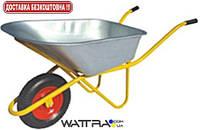 Тачка строительная FORTE WB6418-1 (вода/песок 110/200 л,  250 кг, вес 15 кг) одноколесная с усиленной рамой