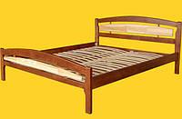 Кровать полуторная с натурального дерева в спальню ТИС МОДЕРН 2 120*190 сосна