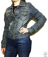 Джинсовая куртка MOTO р. S 42-44 пиджак синяя женская весенняя демисезонная