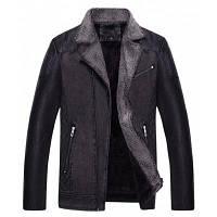 Ctsmartбыл мужская искусственная кожаная куртка с отворотом кожаные куртки L