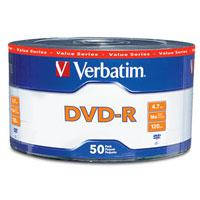 Диски DVD-R Verbatim Lite, 4,7Gb, x16, 50 шт.