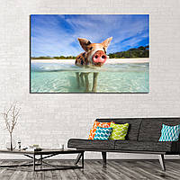 Картина - Свинка в океане