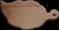"""Деревянная разделочная доска """"Листик"""", 36*18 см, произ-во Украина(171912)"""