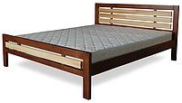 Кровать полуторная с натурального дерева в спальню ТИС МОДЕРН 1 120*190 сосна