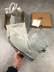 Замшевые зимние UGG Grey 1 Stripe