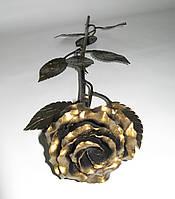 Роза кованая 9 листочков. Кованая роза художественная ковка, фото 1