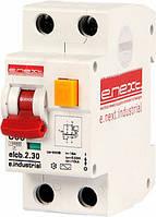 Выключатель дифференциального тока (дифавтомат) e.industrial.elcb.2.C06.30, 2р, 06А, C, 30мА i0230001