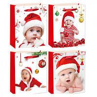"""Пакет подарочный бумажный """"Small Santa"""", 31*40*12см., цена за уп. в уп. 12шт.(480шт.)(R22496)"""