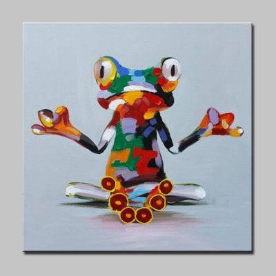 Mintura Абстрактный Лягушка Холст Без Рамы Картина Маслом - Цветной, фото 2