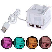 Мода дизайн куб USB-концентратор с 4 стандартных интерфейсов USB 2.0-Белый UU-21897