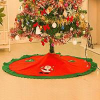 Рождественская юбка для елки для дома отеля торгового центра напольное украшение Красный и зелёный