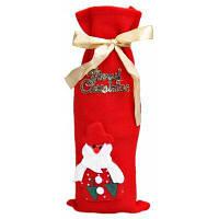 Мешок для бутылки в рождественском стиле для украшения подарочная сумка рождественские украшения Чёрный и розовый