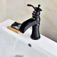 LING HAO HL-343 Смеситель для ванной комнаты с одной ручкой Чёрный