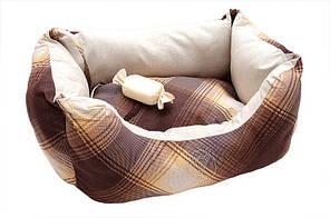 """Лежак для собак ZOOM """"Natural"""" (100% бавовна) №2 двосторонній 52 × 35*25 см"""