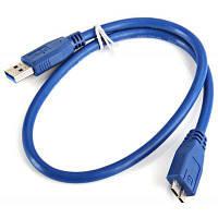 Интерфейс USB 3.0 am к микро данных высокой эффективности БМ соединение кабеля с 0,5 метра Синий