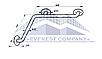 Поручень для инвалидов угловой внутренний, Ø 32мм  - 600х600мм, фото 2