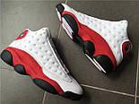 """Баскетбольные кроссовки Air Jordan 13 Retro OG """"White/Red"""". Живое фото (Реплика ААА+), фото 4"""
