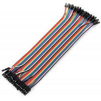 Женский Женский DuPont макет соединительный кабель провода Комплект для Arduino Сделай сам 40шт / пакет