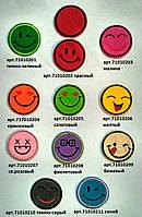 """710102 Аппликация клеевая """"Смайлики"""" (разные цвета)"""