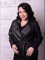 Шкіряна куртка для пишних жінок, різні кольори з 48 по 82 розмір, фото 1