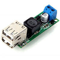 Поделок DC 6-35v до 5В 3А двойной USB Напряжение шаг вниз Регулятор модуль для автомобиля мотоцикла батареи солнечные панели Зелёный