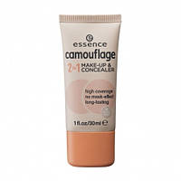 Тональный крем-консилер Essence Camouflage 2 in1 Make-Up&Concealer - Nude Beige