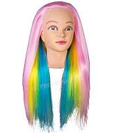 Голова - манекен с искусственным ТЕРМО волосом