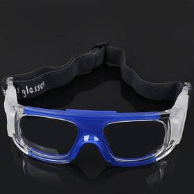 Защитные спортивные очки с противоударными стеклами для баскетбола футбола - белые - Синий