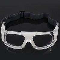 Защитные спортивные очки с противоударными стеклами для баскетбола футбола-белые Прозрачный