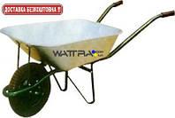 Тачка садовая FORTE WB6203 одноколесная с упором, объем вода / песок 65/140 л, грузоподъемность 150 кг