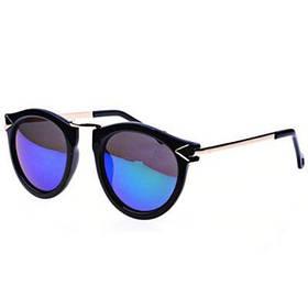 Мужские солнцезащитные очки с черной оправой зелеными серыми линзами - зеленый