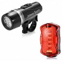 Практическая 5-LED велосипедная вспышка факела и предупреждающий световой сигнал хвоста велосипеда(черный с красным) 33353