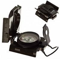 Прочный металлический классический линзовый компас для походов (армейский зеленый) 33946