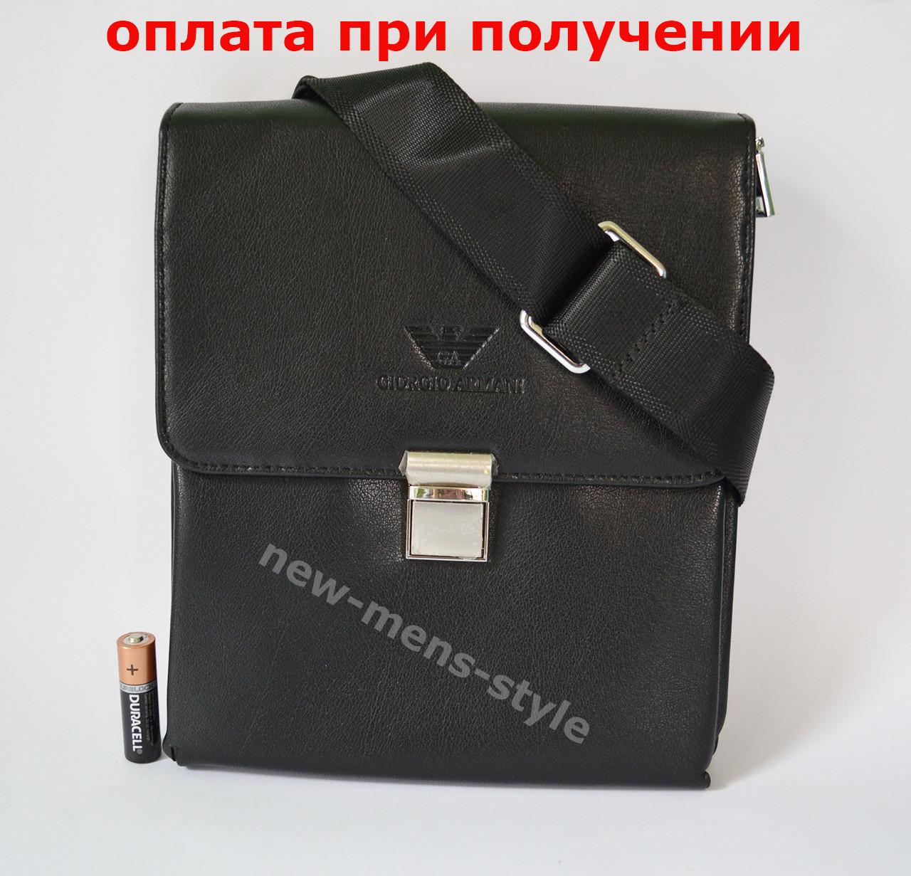 Мужская кожаная фирменная сумка барсетка Giorgio Armani Polo купить