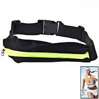 Молнии Эластичность Спортивная сумка для спорта с регулируемым ремешком флуоресцентный зеленый