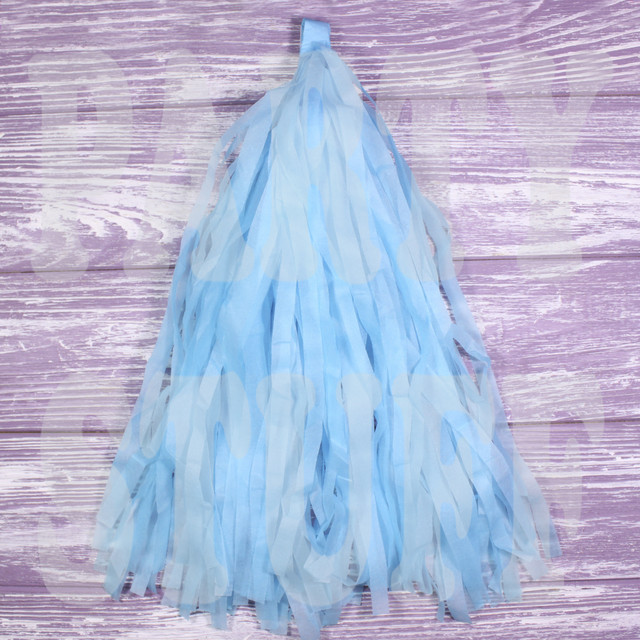 кисточки тассел голубые