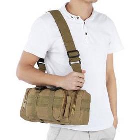 1000D водонепроницаемый нейлон сумка сумка сумка - Коричневый
