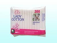 """Ватные палочки для ушей 200шт. """"Lady Cotton"""" в полиэт. пак."""