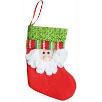Рождественский декоративный мешок чулок для подарков Красный