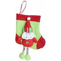 Рождественский чулок с шаблоном снеговика / санта-клауса / оленя для рождественского украшения мешок для подарков и конфет Цветной