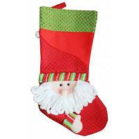 Рождественский чулок с шаблоном санта-клауса мешок для подарков и конфет висячие украшения Цветной