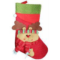 Рождественский декоративный мешок чулок для подарков дизайн лось Красный