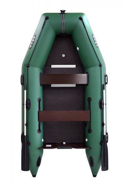 Зеленая четырёхместная моторная лодка ARGO AM-330K. Отличное качество. Доступная цена. Дешево. Код: КГ3115