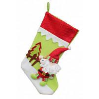 Рождественский декоративный мешок чулок для подарков дизайн Санта-Клаус Цветной